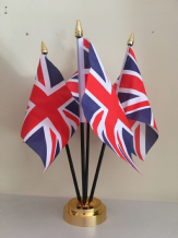 UNION JACK TABLE FLAG SET - 4 FLAGS